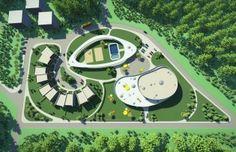 Kindergarden in Vilnius by NG architects Education Architecture, Architecture Plan, Autocad, Villa Design, House Design, Capsule Hotel, Dream Home Design, Cool Designs, Kindergarten