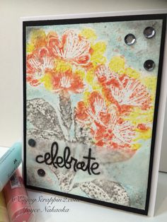 Faber-Castell Design Memory Craft™ Stampin with Gelatos® Tutorial available http://enjoyscrappin2.com