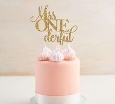 Miss One-derful Cake Topper - First Birthday Decor - Smash Cake Topper - Smash Cake Party Prop - Girl's First Birthday - I Am One Decor by CouronneBoutique on Etsy https://www.etsy.com/ca/listing/504332438/miss-one-derful-cake-topper-first