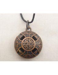 Aromatherapy locket Celtic Cross Copper color Alloy on 24 in black wax cord with 10 refill pads Aromatherapy Jewelry, Aromatherapy Diffuser, Oil Diffuser, Celtic Shield, Medieval Jewelry, Thing 1, Diffuser Necklace, Copper Color, Beaded Jewelry