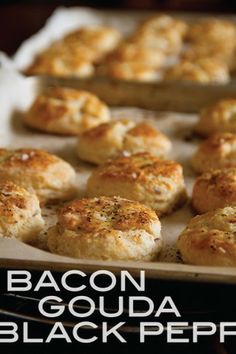 Bacon Gouda Black Pepper Biscuits