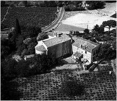Vue aérienne de l'ancienne église paroissiale Saint-Michel-de-Montels (Source : Monuments historiques de Montpellier, Montpellier, Saint Michel