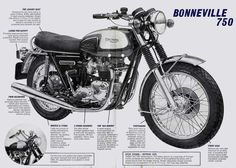 ad for a 1976 Triumph Bonneville 750 - year I bought mine, but with US tank and high rise bars.