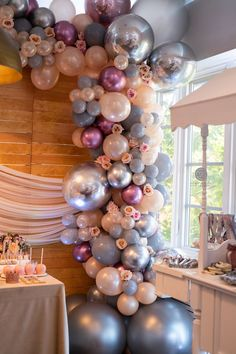 Attractive Princess Birthday Party Ideas for Girls 60th Birthday Balloons, 36th Birthday, Birthday Party For Teens, 18th Birthday Party, Wedding Balloons, Balloon Flowers, Balloon Arch, Balloon Garland, Balloon Decorations