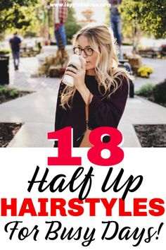 18 Half Up, Half Down Hairstyles for Busy Mornings! Looking for something different than another ponytail or messy bun? These 18 half up, half down hairstyles will have you ready in a flash. With everything from romantic half up looks… Continue Reading → Mom Hairstyles, Hairstyle Look, Everyday Hairstyles, Hairstyles For The Office, Hairstyle Ideas, Homecoming Hairstyles, Wedding Hairstyles, Half Up Half Down Hair, Prevent Hair Loss