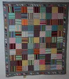 Beth's Striped Quilt - the Gray is Great!
