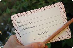 {Free} printable kids' thank you notes