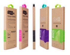 Kraft Paper Packaging Package Retail Box with insert, handle For iphone 5 5s…
