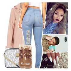 """""""what are you waiting for~jacob latimore"""" by lamamig ❤ liked on Polyvore featuring Topshop, MICHAEL Michael Kors, UGG Australia, women's clothing, women's fashion, women, female, woman, misses and juniors"""