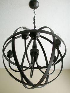 Summer spotlight carrie from lovely etc pinterest orb diy orb chandelier using embroidery hoops aloadofball Images