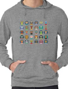 Animal faces design Lightweight Hoodie