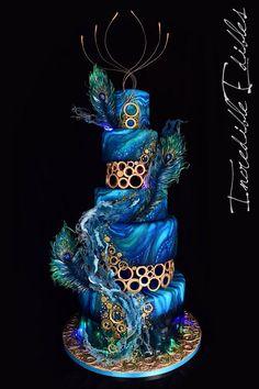 Motif cake Llama - Mary's secret world cake Motivtorte Llama – Mary's Secret World 1 Source by avalon_cakes Beautiful Wedding Cakes, Gorgeous Cakes, Pretty Cakes, Amazing Cakes, Unique Cakes, Elegant Cakes, Creative Cakes, Peacock Cake, Peacock Wedding Cake