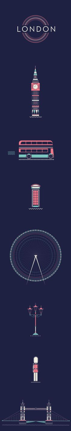London by Verónica De Fazio, via Behance