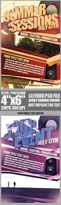 Fun Flyer Template  Cleanses Cartoon And Fonts