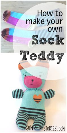 25 ideas for baby toys homemade teddy bears Sewing Projects For Kids, Sewing For Kids, Sewing Ideas, Sewing Toys, Sewing Crafts, Homemade Baby Toys, Sewing Stuffed Animals, Sock Stuffed Animals, Stuffed Toy