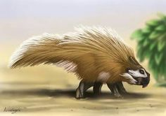 Bagaceratops. Porcupine dinosaur