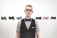 Dapper Photo of a gent and his #BowTies...well some of them!