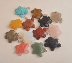 Pendants and Lockets 45079: Wholesale Lot 50 Pcs Mix Gemstone Carve Turtle Crystal Pendant -> BUY IT NOW ONLY: $89.98 on eBay!