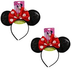 Genuine UPD Minnie Mouse Sparkled Ear Shaped Headband with Red Bow Disney Official Licensed (2 pack) – Baby Shower Store