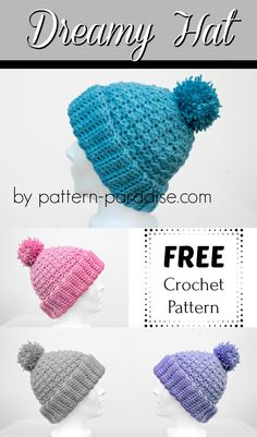 12WeeksChristmasCAL - Dreamy Hat. Crochet Adult HatCrochet Beanie PatternKnit  CrochetFree CrochetBonnetCrocheted HatsCrochet Baby ... 0c52601d4831