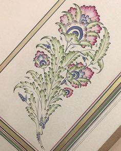🌸🌿 . . . #mywork #art_help #artshelp #england #designspiration #tezhip #illumination #miniature #art #iranart #paint #ottomanart…