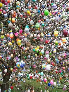 Eierbaum - Happy Easter from Living Vintage - featuring 12 images that remind me of Easter. Hoppy Easter, Easter Eggs, Easter Crafts For Adults, Easter Tree Decorations, Egg Tree, Living Vintage, Diy Ostern, Easter Parade, Easter Celebration