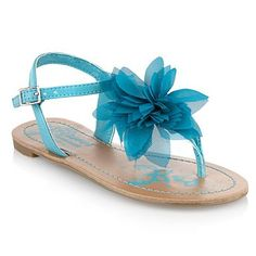Girl's turquoise corsage sandals -  Cute as!!!!
