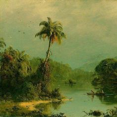Paesaggio tropicale, ~ 1855 Frederic Edwin Church (May 4, 1826 – Apr 7, 1900) was an American landscape painter. Museo Thyssen