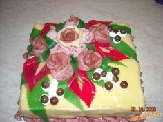 SLANÝ DORTÍK s fotopostupem na růžičky Gingerbread, Food And Drink, Cake, Step By Step, Ginger Beard, Food Cakes, Cakes, Tart, Cookies