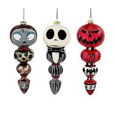 NIGHTMARE BEFORE CHRISTMAS DISNEY 3-PC ORNAMENT SET  | Collectibles, Disneyana, Contemporary (1968-Now) | eBay!