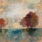 iCanvas 'Landscape Monotype I' by Silvia Vassileva Painting Print on Wrapped Canvas