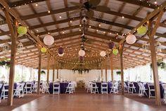 Rustic Glam Barn Wedding Reception at Tampa Wedding Venue Cross Creek Ranch | Rustic Wedding Ideas and Inspiration