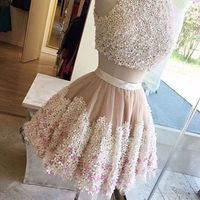 Two Pieces Homecoming Dresses,Pretty Party Dress,Charming Homecoming Dress,Graduation Dress,Homecoming Dress,Short Prom Dress D26 - Thumbnail 3