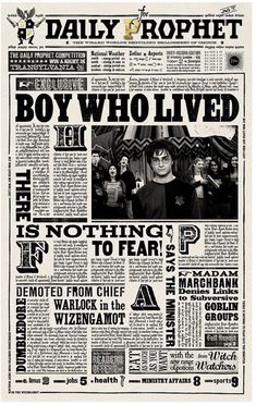 Harry Potter The Daily Prophet Newspaper Boy Who Lived Art Print/Poster Harry Potter Poster, Monopoly Harry Potter, Magie Harry Potter, Harry Potter Fiesta, Harry Potter Thema, Cumpleaños Harry Potter, Harry Potter Classroom, Harry Potter Bedroom, Harry Potter Halloween