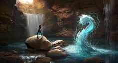 Image about water in Avatar the Last Airbender/Legend of Korra by Avatar Aang, Avatar The Last Airbender, Fantasy Magic, Fantasy World, Dark Fantasy, Magic Art, Fantasy Inspiration, Character Inspiration, Character Art