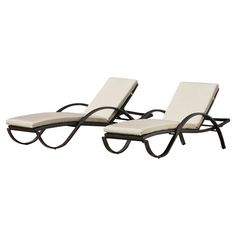 Deco Outdoor Lounger in Light Grey (Set of 2) at Joss & Main