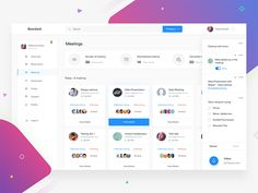 Dashboard - Meeting designed by Divan Raj . Connect with them on Dribbble; Dashboard Interface, Web Dashboard, Ui Web, Dashboard Design, Interface Design, Web Design Tips, App Design, Free Dashboard Templates, To Do App