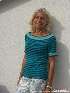 "Пуловер ""Havannah"" by Heidemarie Kaiser спицами"