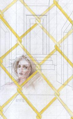 """""""Studio sulla coscienza n°76. 2016 (prigioniero di luce)"""" con Alexandra Tintisan"""