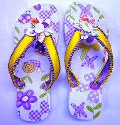 Sandálias com Decoupage em Tecido