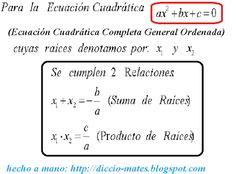 Diccionario Matemático: Ecuación Cuadrática
