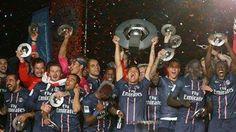 #MejoresImagenesDel2013   PSG Campeón de la Ligue 1.