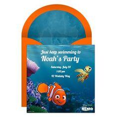 Finding Nemo Party Online Invitation