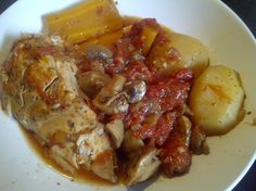Slow Cooker Tomatoey Chicken Pot Roast