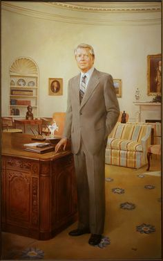 Presidential portraits at the National Portrait Gallery - February JIMMY CARTER - Jimmy Carter by Robert Clark Templeton. Jimmy Carter, Presidential Portraits, Presidential History, American Presidents, American History, Kehinde Wiley, Georgie, Racial Equality, Government Shutdown