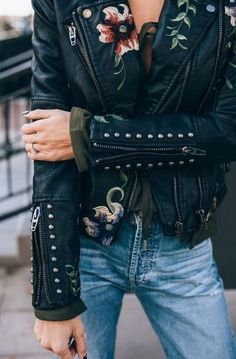Trend: embodied jackets and leather jakets are seen late winter and early spring. The flowers are uniquely seen during spring