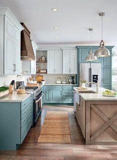 Kitchen Sink Decor, Best Kitchen Cabinets, Kitchen Cabinet Design, Kitchen Redo, New Kitchen, Kitchen Ideas, Kitchen Paint, Kitchen Colors, Farmhouse Kitchen Island