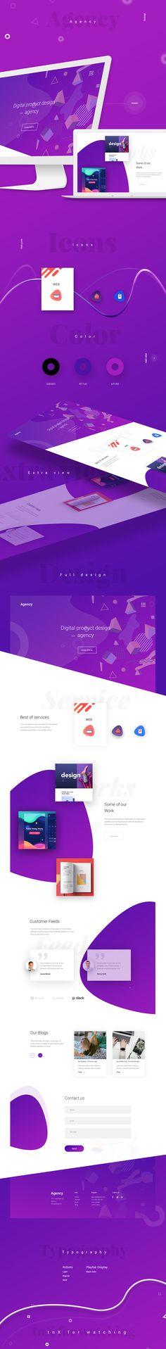 Agency Web Design on Behance