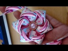 ROSA TORBELLINO ARCOIRIS/SATIN ROSES/ROSAS DE LISTON/MANUALIDADES/CRAFTS/DIY - YouTube