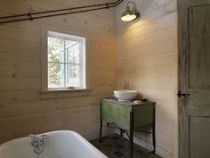 Winter Cabin - rustic - bathroom - burlington - by Susan Teare, Professional Photographer